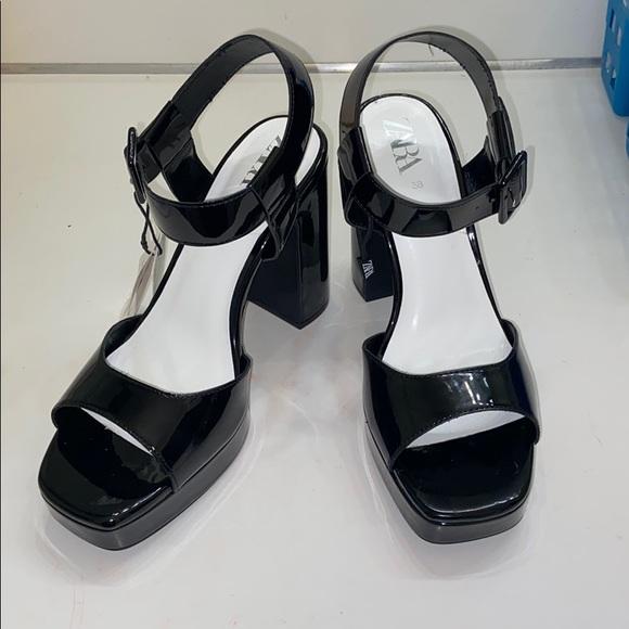 Zara Shoes - ZARA Platform Heel Sandals NEW with Tags